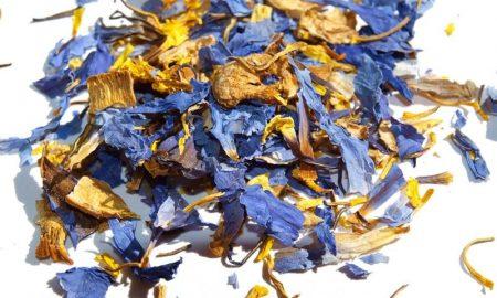 Blue Lotus Dried Crushed Flowers (Nymphaea Caerulea)